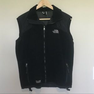 North Face Gore Black Fleece windstopper vest